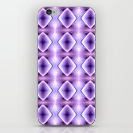 Blue Purple Geometric Diamond Pattern Design iPhone Skin