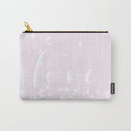 Delicate Love Rose Pink Glitter Design Carry-All Pouch