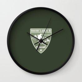 Ski Rhinelander Wisconsin Wall Clock