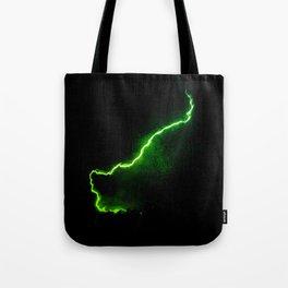 Chartreuse Lightning Tote Bag