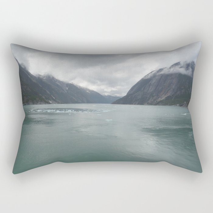 Looking out Endicott Arm Rectangular Pillow