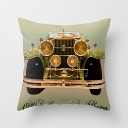 The Definition of Rolling Art Throw Pillow