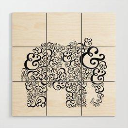 Ampersand Elephant Wood Wall Art