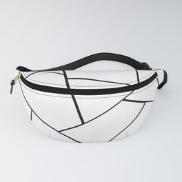 Black White Geometric Glam #1 #geo #decor #art #society6 Fanny Pack