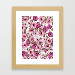 Hibiscus Pattern Framed Art Print