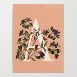 Letter A for Amelanchier Poster