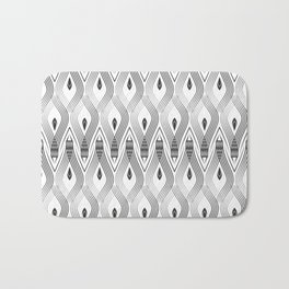 Art Deco 56 . black and gray spiral . Bath Mat
