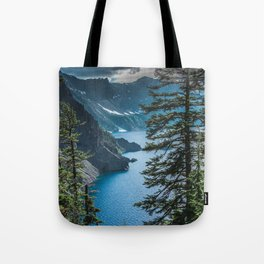 Blue Crater Lake Oregon in Summer Tote Bag