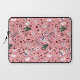 Pink Pastel Valentine Pattern Laptop Sleeve