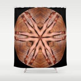 K-4889 Intimate Sexual Mandala Nude Female Naked Closeup Vulva Abstracted Sensual Sexy Erotic Art Shower Curtain