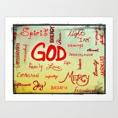 God Wordle Art Print
