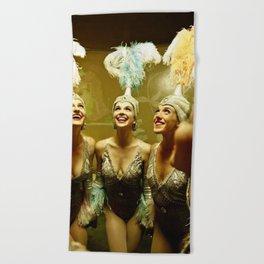 1950's Showgirls Beach Towel