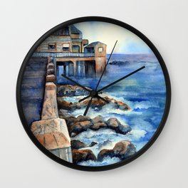Walking with Steinbeck on Cannery Row Wall Clock