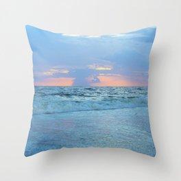 Restless Oceans Throw Pillow