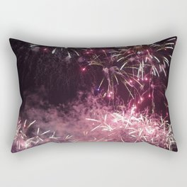 Pink Fireworks @ One Fullerton, Singapore. Rectangular Pillow