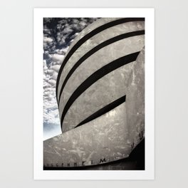 Guggenheim Museum | New York [Sky cut 441] Art Print