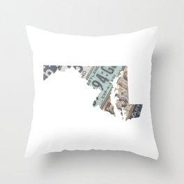Vintage Maryland Throw Pillow