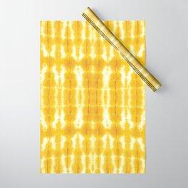 Yellow Linen Shibori Stripe Wrapping Paper