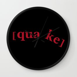 Quake Logo Wall Clock