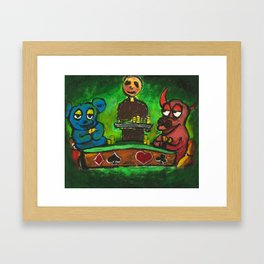 Red Bull and Blue Bear Framed Art Print