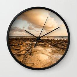 Rocky beach at tip of Borneo Wall Clock