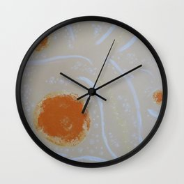 Sudsy Series - Orange Lather Wall Clock