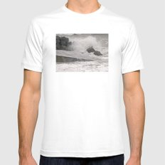 Angry Sea Mens Fitted Tee MEDIUM White