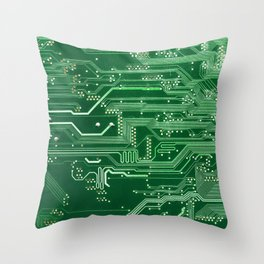 Electronic circuit board Throw Pillow