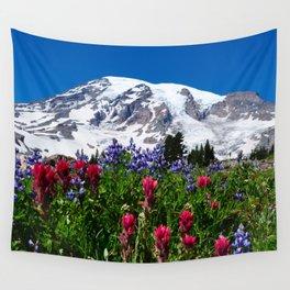 Mountain Wildflower Panoramic Wall Tapestry