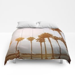 Palm Tree Road Comforters