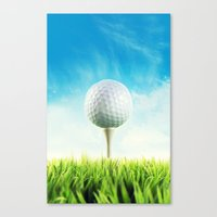 golf Canvas Prints featuring GOLF by Ylenia Pizzetti