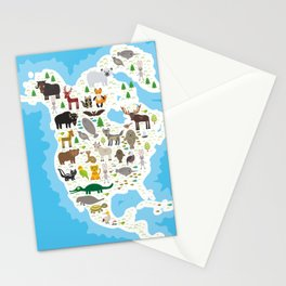 bison bat manatee fox elk horse wolf partridge fur seal Polar bear Pit viper snake Mountain goat Stationery Cards