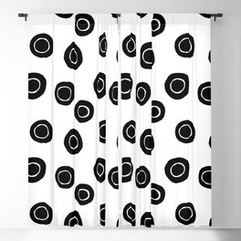 Black and White Abstract Circle Pattern Blackout Curtain