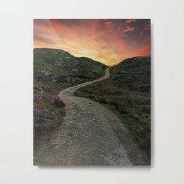 Sunset over Skye island Metal Print