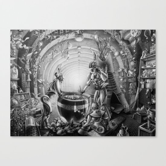 Temporary station Canvas Print