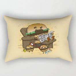 The Dad Burger Rectangular Pillow