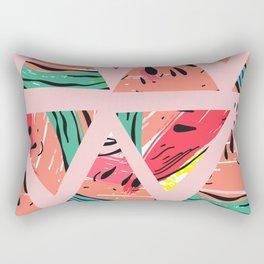 Pink Watermelon Pattern Rectangular Pillow