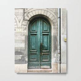 Emerald Door Metal Print