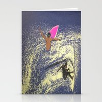 surfing Stationery Cards featuring SURFING by aztosaha