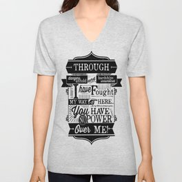 Labyrinth Quote You Have No Power Over Me Unisex V-Neck