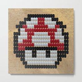 Bitwork Beadwork Toad Metal Print