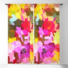 Winterberry #painting #colorful Blackout Curtain