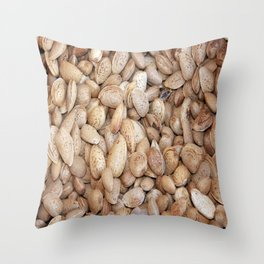 Harvested Almonds Throw Pillow