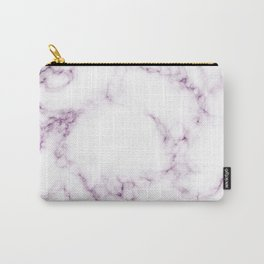 Purple Marble Carry-All Pouch
