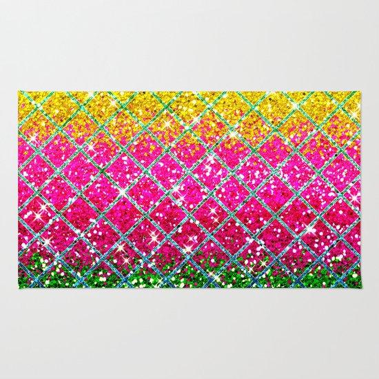 Glitter Pink Snakeskin Rug By Tees2go