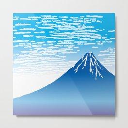 Hokusai Fuji under the Clear Sky Metal Print