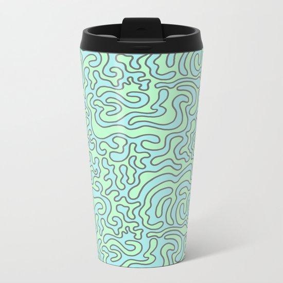 Wacky Pattern Metal Travel Mug