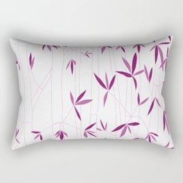 Bamboo Sketch in Pink Rectangular Pillow