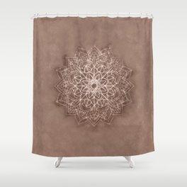 Chic Watercolor Beige Mandala Shower Curtain