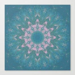 Navajo Turquoise Gemstone Mandala No. 40 Canvas Print